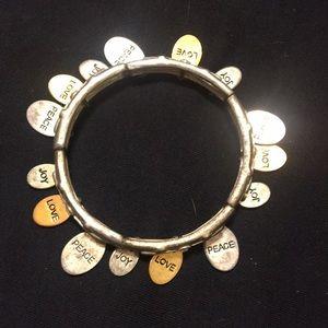 Jewelry - Peace love joy charm bracelet